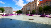 barok : Vienna, Austria, the fountain inside the MuseumsQuartier Wideo