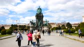barok : Vienna, Austria, tourists in Maria Theresien Square