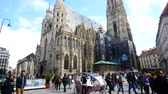 barok : Vienna, Austria, tilt up of St. Stephens South Tower