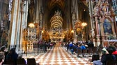 barok : Vienna, Austria, inside Saint Stephan church Wideo