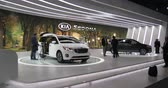 kia : New Kia Sedona at the New York International Auto Show, at the Jacob Javits Convention Center Stock Footage