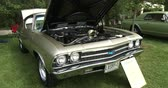 chassis : Vintage Chevrolet at Guelph classic car show on August 24, 2014 in Guelph, Ontario, Canada Stock Footage