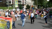 manifestação : Bolivian community takes part in demonstration in Milan, Italy
