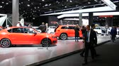 Skoda cars exhibited during the IAA auto show in Frankfurt, Germany on September 13, 2017.