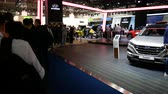 People online at Hyundai booth at IAA auto show in Frankfurt, Germany on September 13, 2017.
