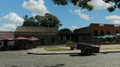 Small plaza in the historic center (at the Unesco World Heritage site) of Colonia del Sacramento, Uruguay.