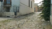 Pedestrian street in the historic center (at Unesco World Heritage site) of Colonia del Sacramento, Uruguay. Wideo