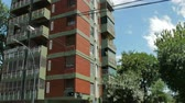 new day : Buildings in the Chinese neighborhood in Buenos Aires, Argentina on December 26, 2017. Stock Footage