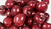 rotated : Close-up of rotating fresh cherries Stock Footage