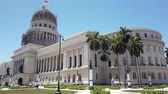 Капитолий : El Capitolio, or National Capitol Building in Cuba, Cuba, Cuba Стоковые видеозаписи