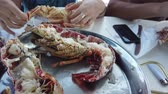 crustacean : Just cooked a fresh lobster. People eat lobster on the boat. Rocking the boat