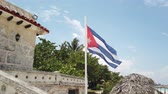 cabrio : Cuban flag flying on the beach Cuba, Varadero.