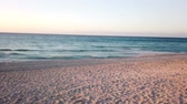 littoral : Stunning panoramic sunset over Varadero beach in Cuba. Vidéos Libres De Droits