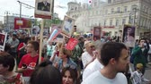 immortal : RUSSIA, MOSCOW - MAY 9, 2019: Immortal Regiment - Procession Stock Footage
