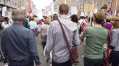 mei : RUSSIA, MOSCOW - MAY 9, 2019: Immortal Regiment - Procession Stockvideo