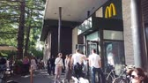 点検 : MOSCOW, RUSSIA - JULY, 2019: McDonalds Restaurant Frontage on park VDNKH, Exhibition center.