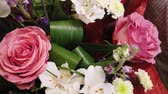пион : Beautiful bouquet of flowers. Multi-colored flowers close-up. Festive mood.