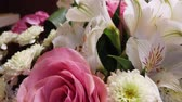 모란 : Beautiful bouquet of flowers. Multi-colored flowers close-up. Festive mood.