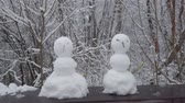 kardan adam : Children made little snowmen in the park