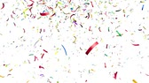 celebration : Colorful confetti falling