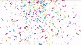 decor : Animation of colorful confetti falling Stock Footage