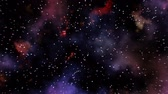 kosmos : Blinking stars with colorful nebula animation Wideo
