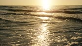 Sunset of sun setting over the sea Stock Footage