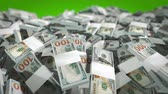 American dollar bills close-up scrolling left Stock Footage