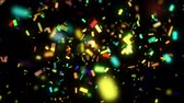 Animation of falling down confetti 影像素材