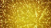 Golden background and sparkles, animation