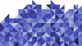 Abstract animation of triangles mosaic pattern