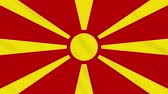 závěrečný : Republic of Northern Macedonia flag waving cloth, ideal for background, loop