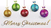 кинозвезды : Merry Christmas balls footage video clip