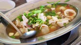 chili ring : Thai hot squid with spicy lemongrass lime yum soup