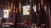 meditation : Video of Inside wooden Buddhist temple