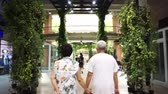 family values : Asian family walking spend time together at open air shopping plaza Stock Footage