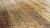 царапины : Old beautiful wood floor in Europe house texture motion video