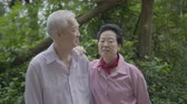 ilişkiler : Asian Senior Couple Stand Together In Nature 4K