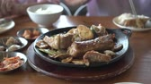 rice pan : Eating Korean Pork Ribs With White Rice Asian Culture