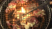 open fire : Japanese Style Beef Tongue Charcoal Bbq Grill Top View