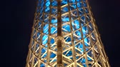 наблюдения : Tokyo Japan 27 Sep 2016 Tokyo Skytree Close Up Structure At Night