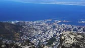 Cape town South africa top view from table mountain Stok Video