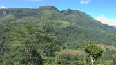 Panoramic view of the valley View of Puna Waterfall in Central Province, Sri Lanka