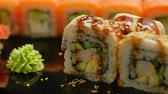 ryż : oriental cuisine. sushi rolls. diet food japanese meal delicacy