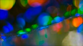 утечка : Defocused colorful lens flare. Bokeh multicolor circles reflection design. Flowing lights in motion.
