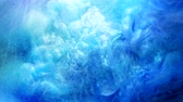 bewitchment : Ink flow. Mysterious cloud. Blue colored glitter fog. Abstract smoke. Stock Footage