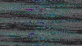 chyba : Glitch defect. Analog TV signal error. Pixel noise pattern motion.
