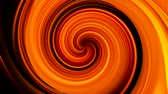 trans : Glow swirl motion. Hypnotic trance. Neon orange circle lights on black background.