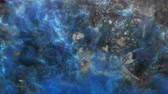 Glitter steam flow. Enchanted land. Shimmering blue fume spreading over dusty surface.