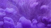 Steam motion background. Fantasy waterfall. Purple haze flow effect for video editing.